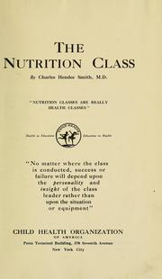 Cover of: The nutrition class, by Charles Hendee Smith
