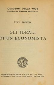 Cover of: Gli ideali di un economista
