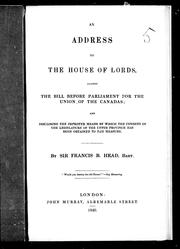 Cover of: An address to the House of Lords