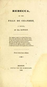 Cover of: Rebecca, or, The fille de chambre: a novel