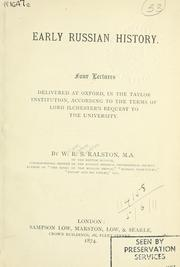 Cover of: Early Russian history