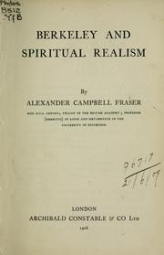 Cover of: Berkeley and spiritual realism