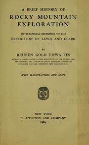 Cover of: A brief history of Rocky Mountain exploration