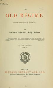 Cover of: The Old Régime
