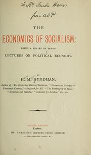 Cover of: The economics of socialism