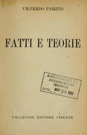 Cover of: Fatti e teorie