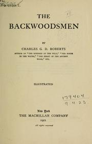 Cover of: The backwoodsmen