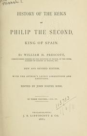 Cover of: History of the reign of Philip II, King of Spain
