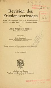 Cover of: Revision des Friedensvertrages