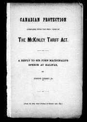 Cover of: Canadian protection compared with the provisions of the McKinley Tariff Act