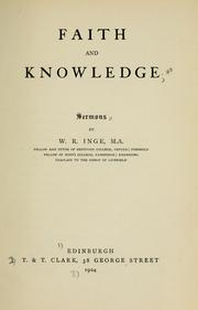 Cover of: Faith and knowledge