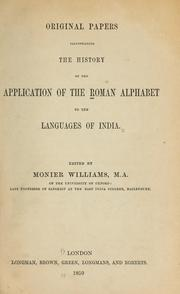 Cover of: Original papers illustrating the history of the application of the Roman alphabet to the languages of India