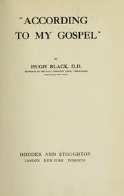 "Cover of: ""According to my gospel."""
