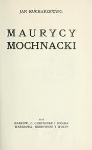 Cover of: Maurycy Mochnacki