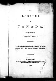Cover of: The bubbles of Canada
