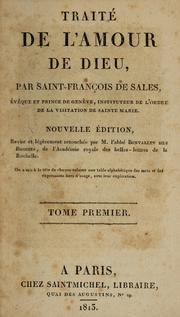 Cover of: Traité de l'amour de Dieu