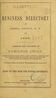 Cover of: Gazetteer and business directory of Oneida County
