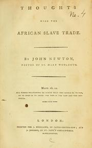 Cover of: Thoughts upon the African slave trade