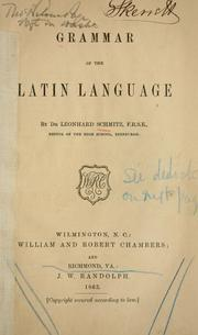 Cover of: Grammer of the Latin language