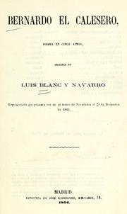 Cover of: Bernardo el calesero