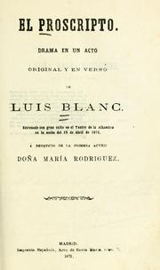 Cover of: El proscripto