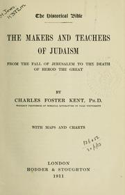 Cover of: The makers and teachers of Judaism