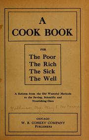 Cover of: A cook book for the poor