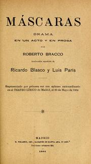 Cover of: Máscaras