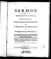 Cover of: A sermon preached in the parish church of St. Paul at Halifax, on Friday, April 25, 1794