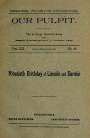 Cover of: Ninetieth birthday of Lincoln and Darwin