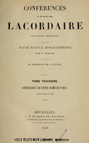 Cover of: Conférences