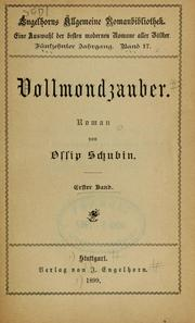 Cover of: Vollmondzauber