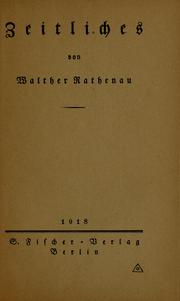Cover of: Zeitliches