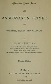 Cover of: An Anglo-Saxon primer