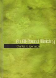 Cover of: An all-round ministry: addresses to ministers and students