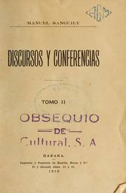 Cover of: Discursos y conferencias