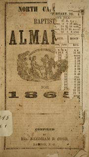 Cover of: North Ca[rolina] Baptist alma[nac] for 1865