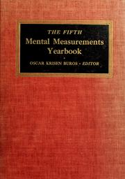 Cover of: The fifth mental measurements yearbook