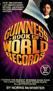Cover of: Guinness 1985 book of world records