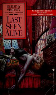 Cover of: Last seen alive