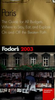 Cover of: Fodor's 2003
