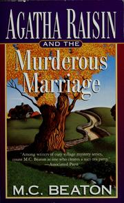 Cover of: Agatha Raisin and the murderous marriage