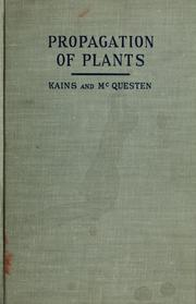Cover of: Propagation of plants