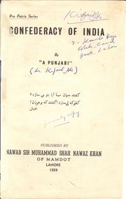 Cover of: Confederacy of India
