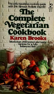 Cover of: The complete vegetarian cookbook