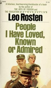Cover of: People I have loved, known, or admired