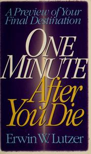 Cover of: One minute after you die