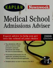 Cover of: Medical school admissions adviser, 2000