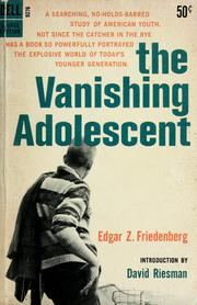 Cover of: The vanishing adolescent