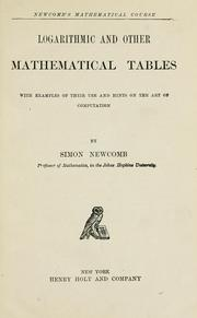 Cover of: Logarithmic and other mathematical tables